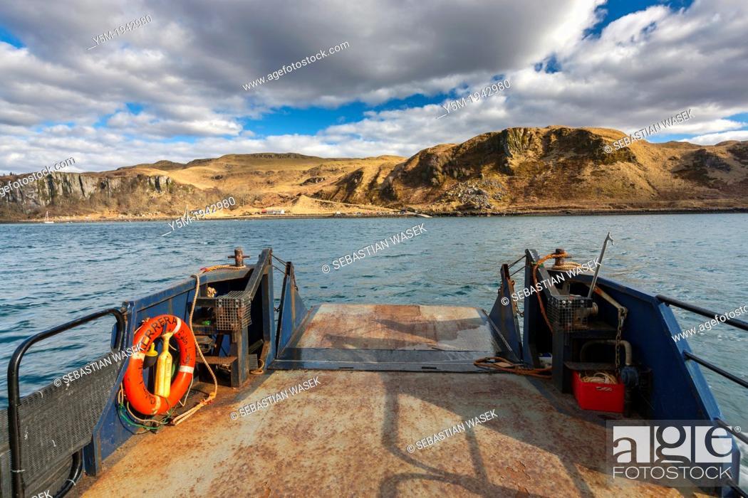 Stock Photo: Ferry on Kerrera Island, Argyll and Bute, Scotland, UK, Europe.