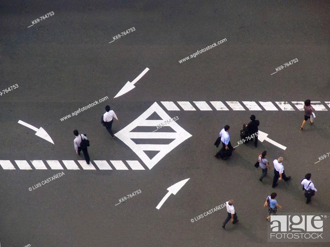 Stock Photo: Pedestrians  Osaka  Japan.