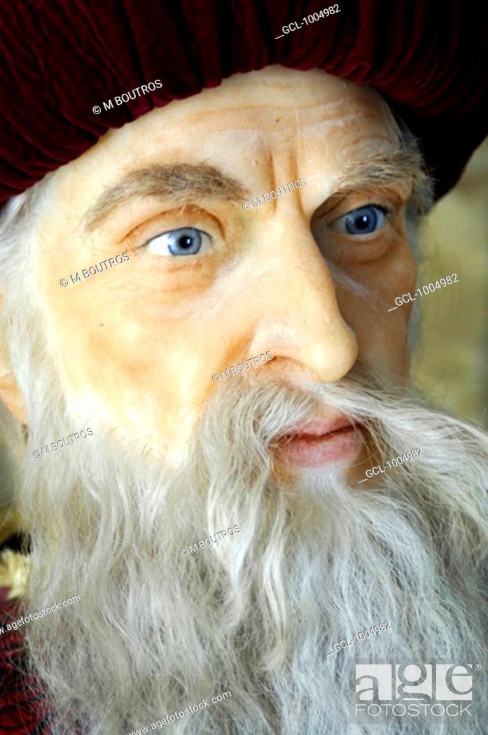 Stock Photo: Fakhreddine portrait taken at the Wax museum in Deir Al Qamar, Lebanon.