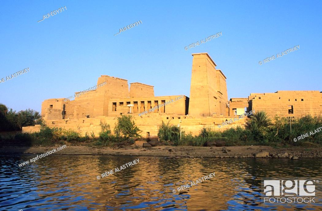 Imagen: Egypte - Basse Nubie - Assouan - Le temple de Philea - Temple d'Isis.