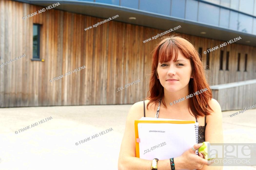 Stock Photo: Portrait of a young student.