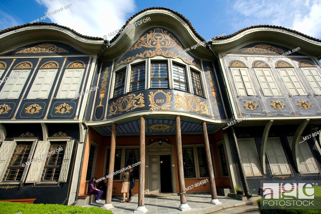 Stock Photo: Ethnographic Museum in old town, Plovdiv, Bulgaria.