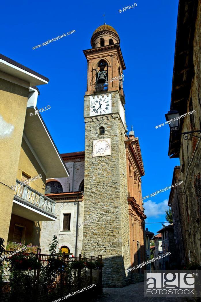 Photo de stock: Church tower, Castino, Piedmont, Italy.