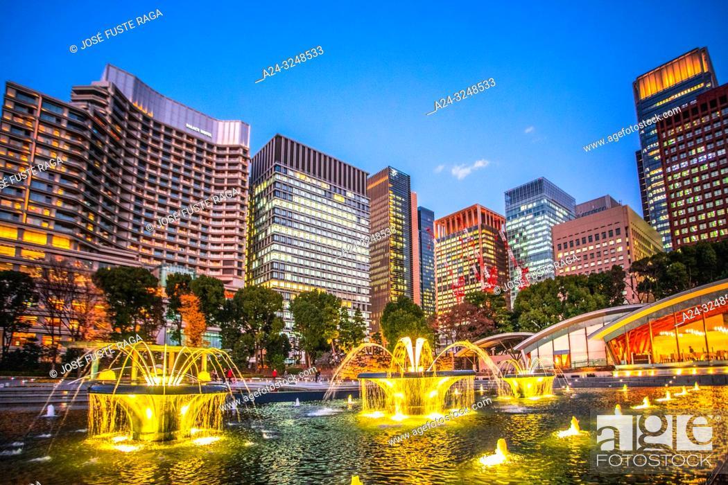 Stock Photo: Japan, Tokyo City, Marunouchi District skyline.