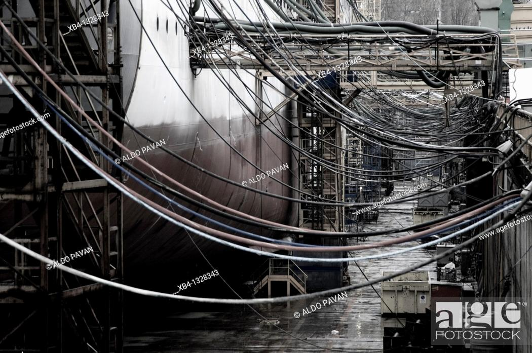 Stock Photo: Italy, Venice, Marghera industrial district.