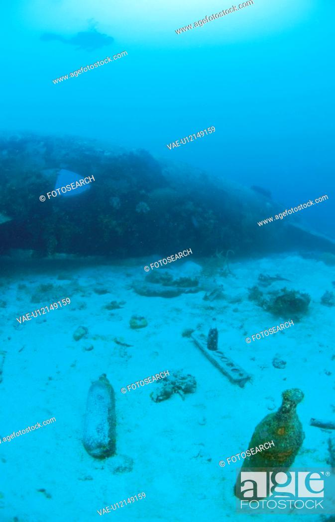 Stock Photo: Fighter Plane Which Sleeps On The Seabed.