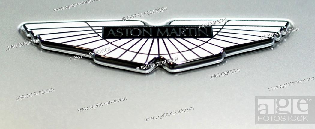 The Logo Of An Aston Martin Db9 Gt Bond Edition Car Is Shown In A Car Dealership In Berlin Stock Photo Picture And Rights Managed Image Pic Pah 63065708 Agefotostock