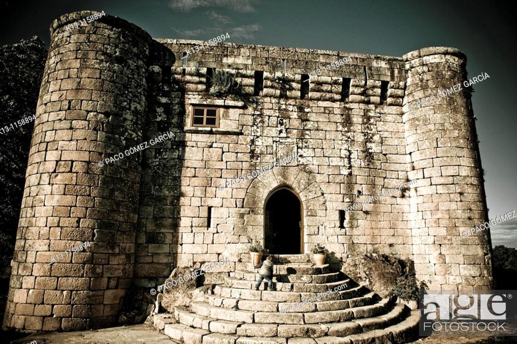 Stock Photo: Sobroso Castle  Pontevedra  Galicia  Spain.