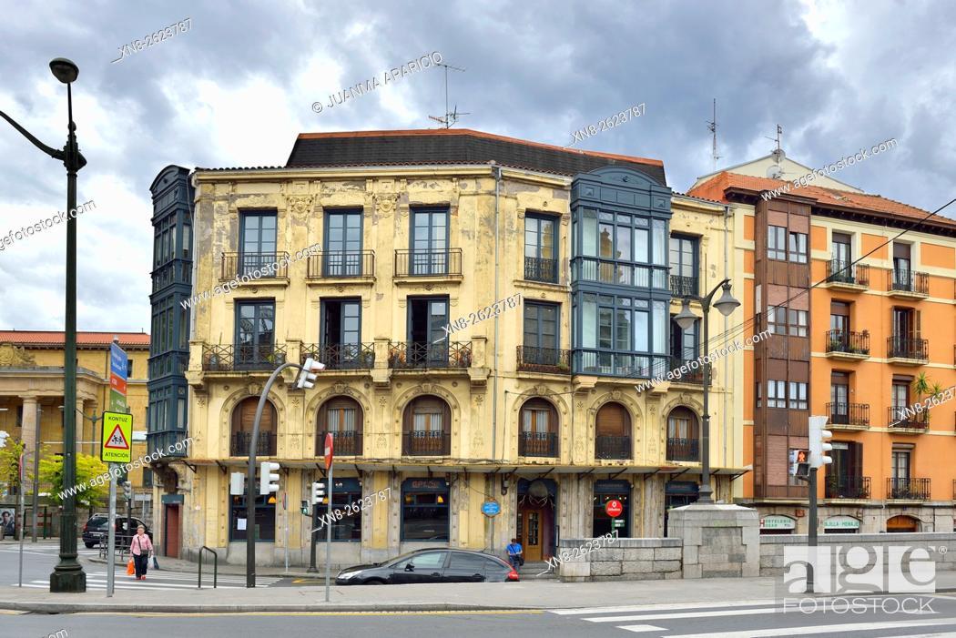 Stock Photo: Bilbao, Biscay province, Basque Country, Euskadi, Spain, Europe.