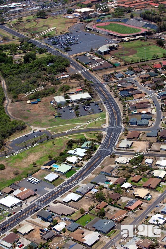Stock Photo: Aerial View of the Maui Island, Hawaii, USA.
