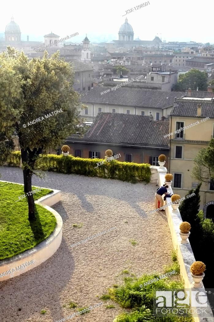Stock Photo: The beautiful view from the Capitoline Hill Rome Italy.