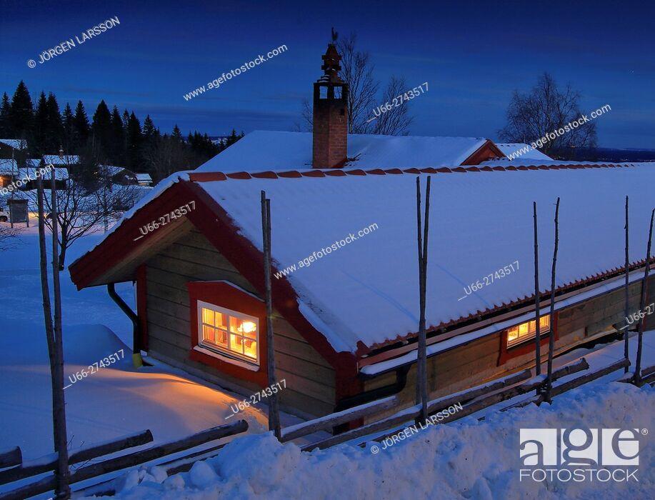 Stock Photo: Wintertime, Fryksas, Dalarna, Sweden.