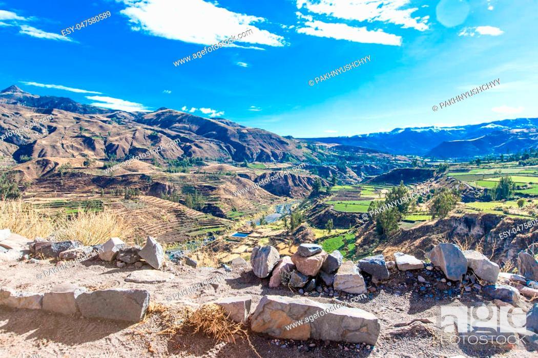 Stock Photo: landscape of Peru.