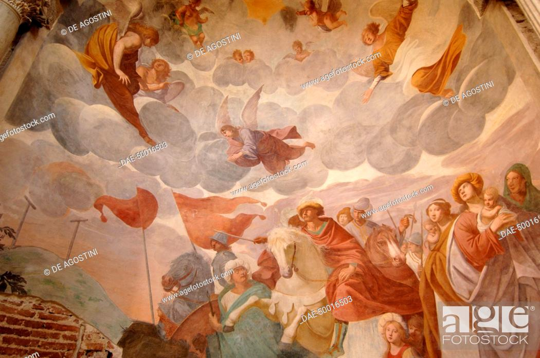 Scenes From The Life Of St John 17th Century Fresco Early