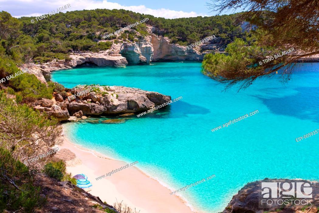 Stock Photo: Cala Mitjaneta in Menorca Ciutadella at Balearic islands.