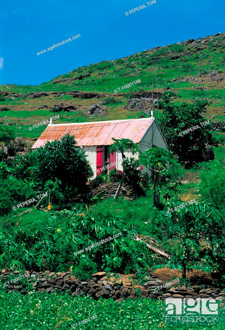 Stock Photo: Mauritius, Rodrigues, house.