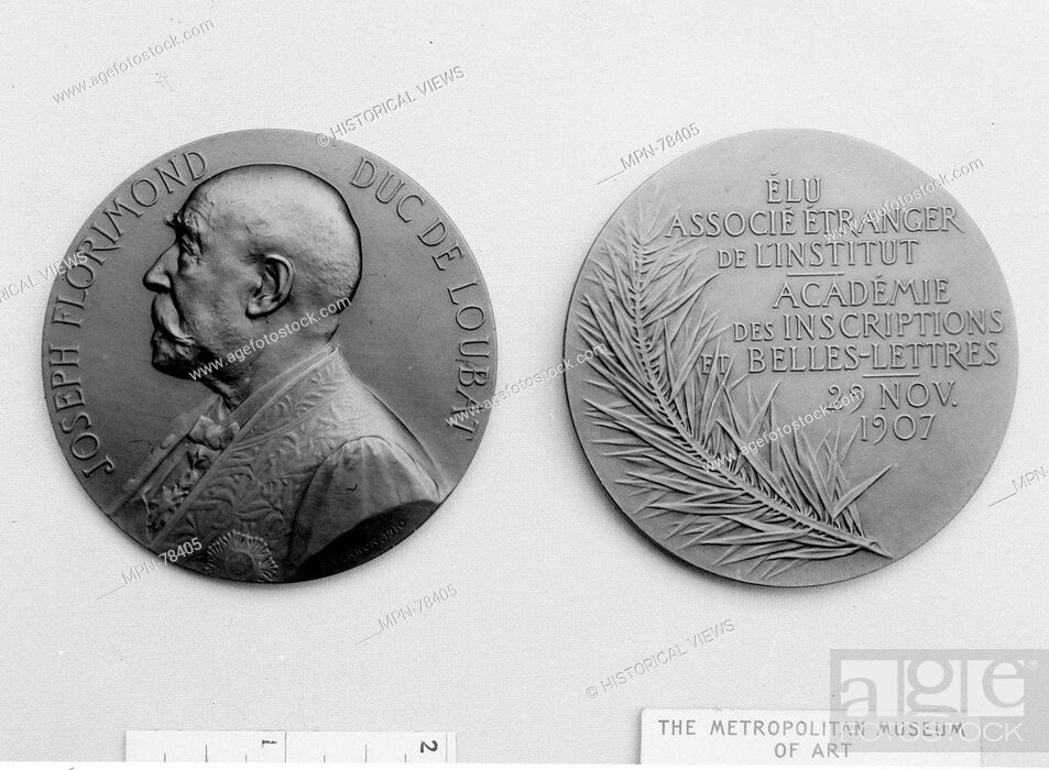 Imagen: The Election of the Duke de Loubat, Member of the Institut de France. Artist: Medalist: Frédéric Charles Victor de Vernon (French.