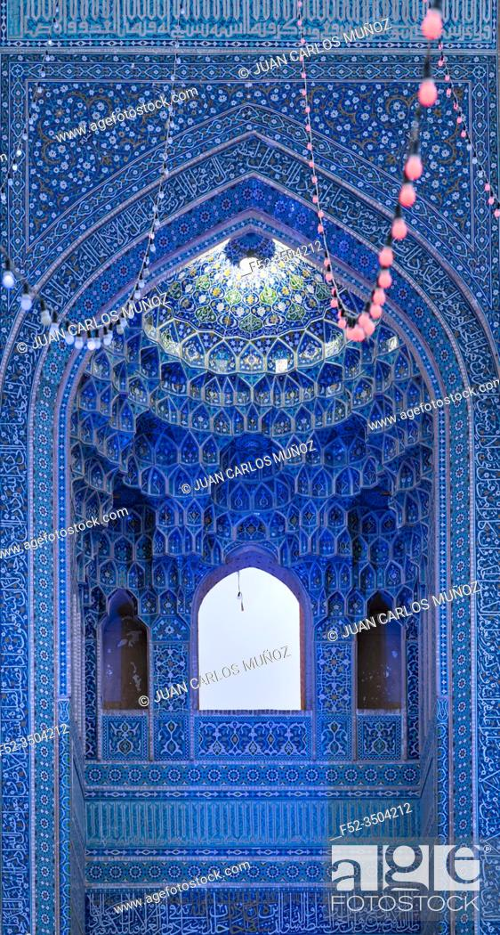 Photo de stock: Jame Mosque, Yazd, Iran, Western Asia, Asia, Middle East.