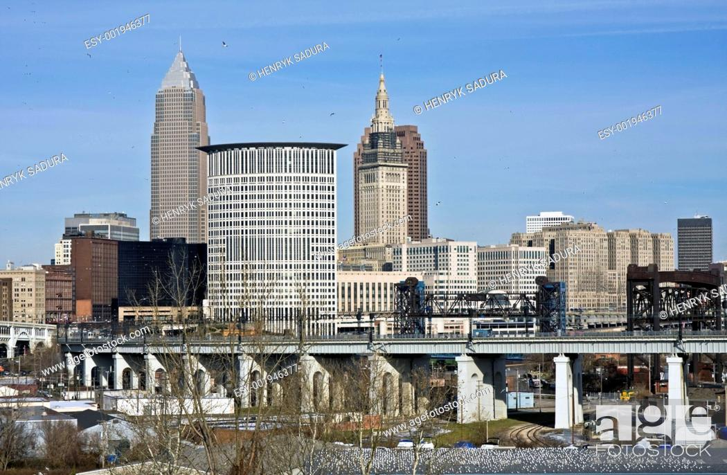 Stock Photo: Downtown Cleveland.