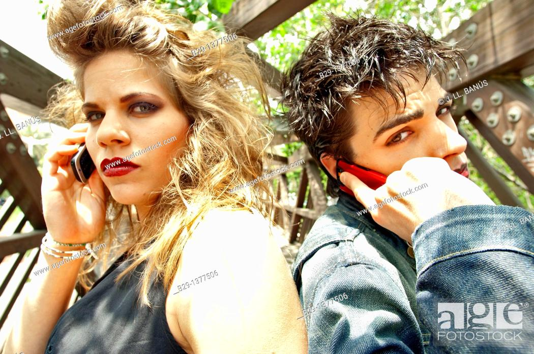 Stock Photo: Punk couple.