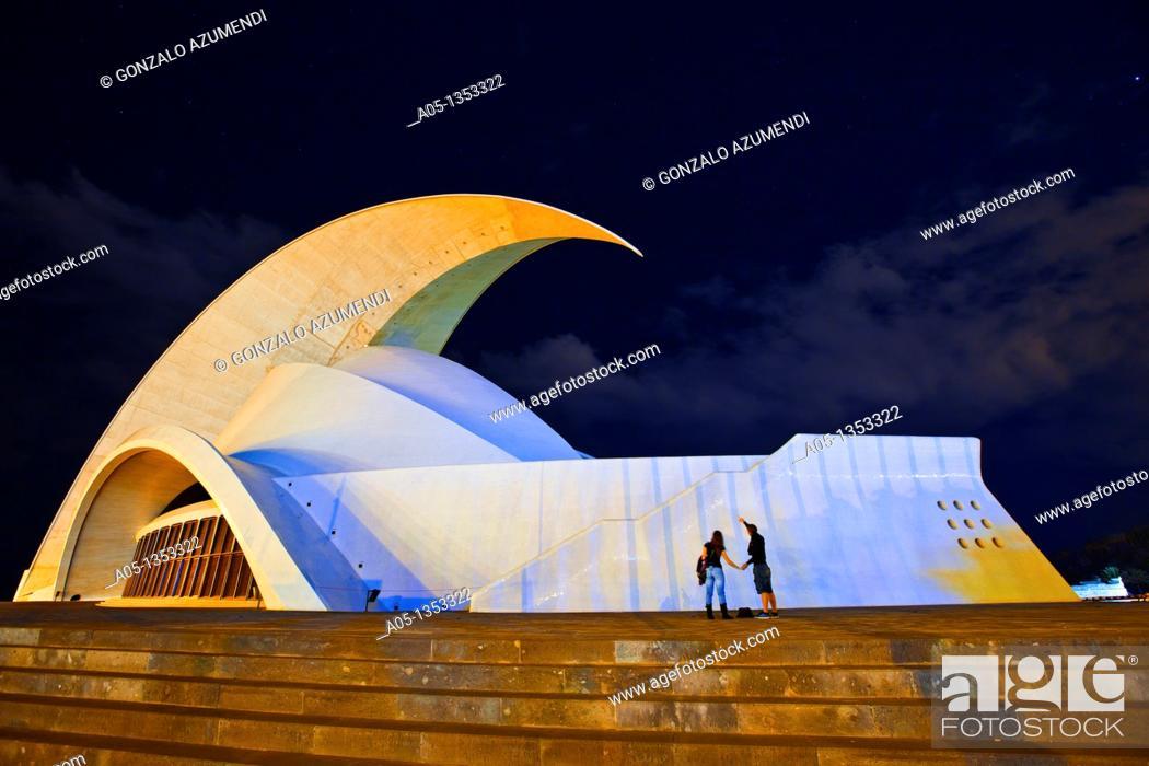 Stock Photo: Opera House  Santa Cruz de Tenerife  Tenerife  Canary Islands  Spain.