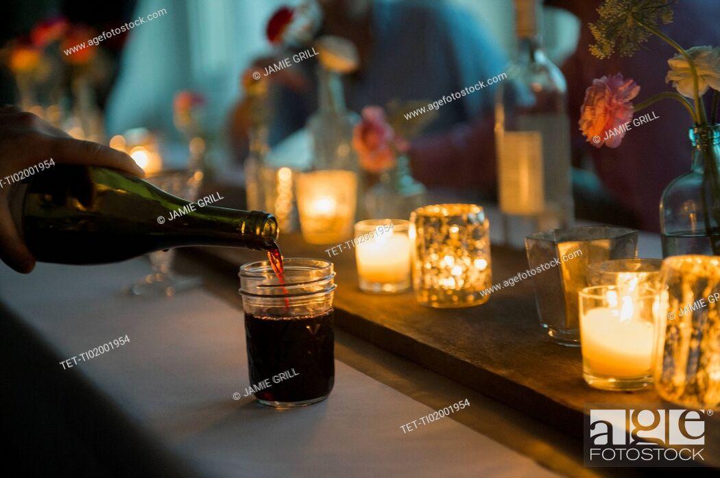Stock Photo: Pouring wine.