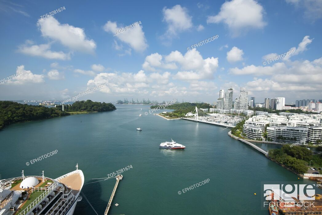 Imagen: Cityscape and ocean view, Architecture, Singapore.