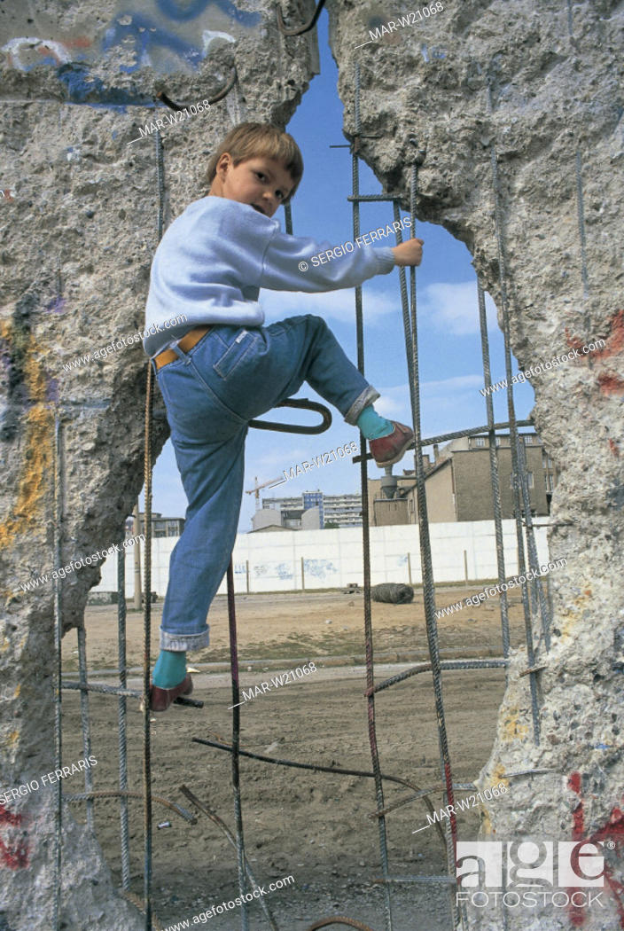 Stock Photo: europe, germany, passage in the berlin wall, 1961-1989.