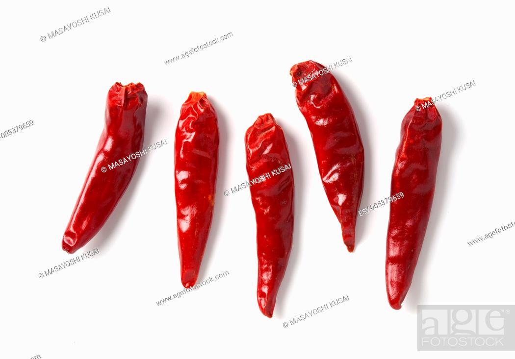 Stock Photo: red hot chili pepper.