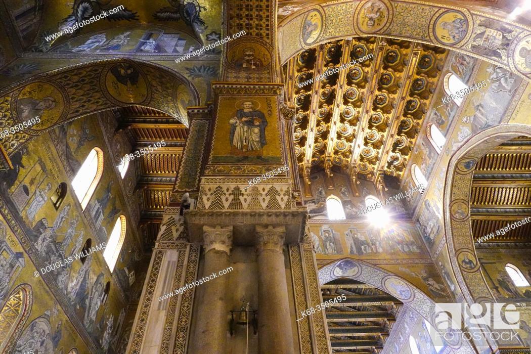 Stock Photo: The Duomo of Monreale, near Palermo, Sicily, Italy.