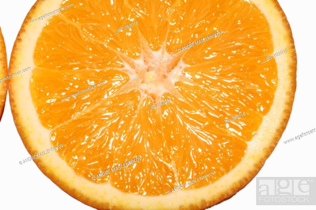 Stock Photo: Orange slice.