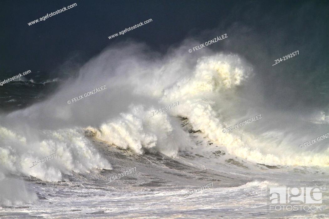 Stock Photo: Waves at Llanes Coast, Asturias Spain.
