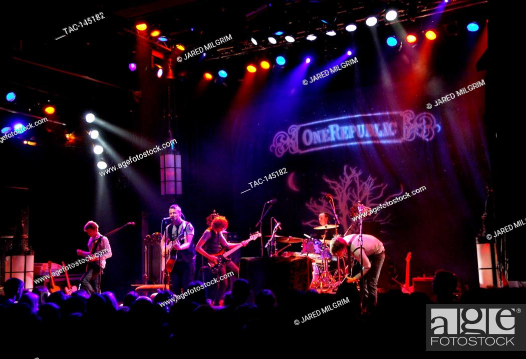 Stock Photo: OneRepublic performing at the House of Blues on Sunset in West Hollywood, Ca.