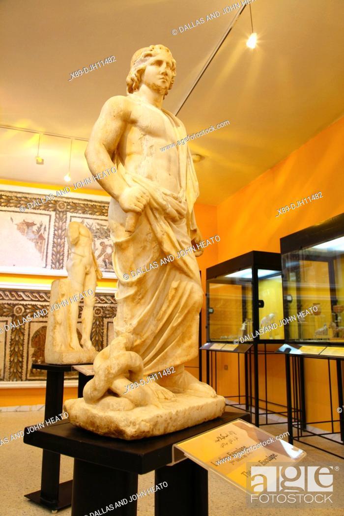 Stock Photo: Africa, Tunisia, Utica Archaeological Site, Interior of Utica Museum.