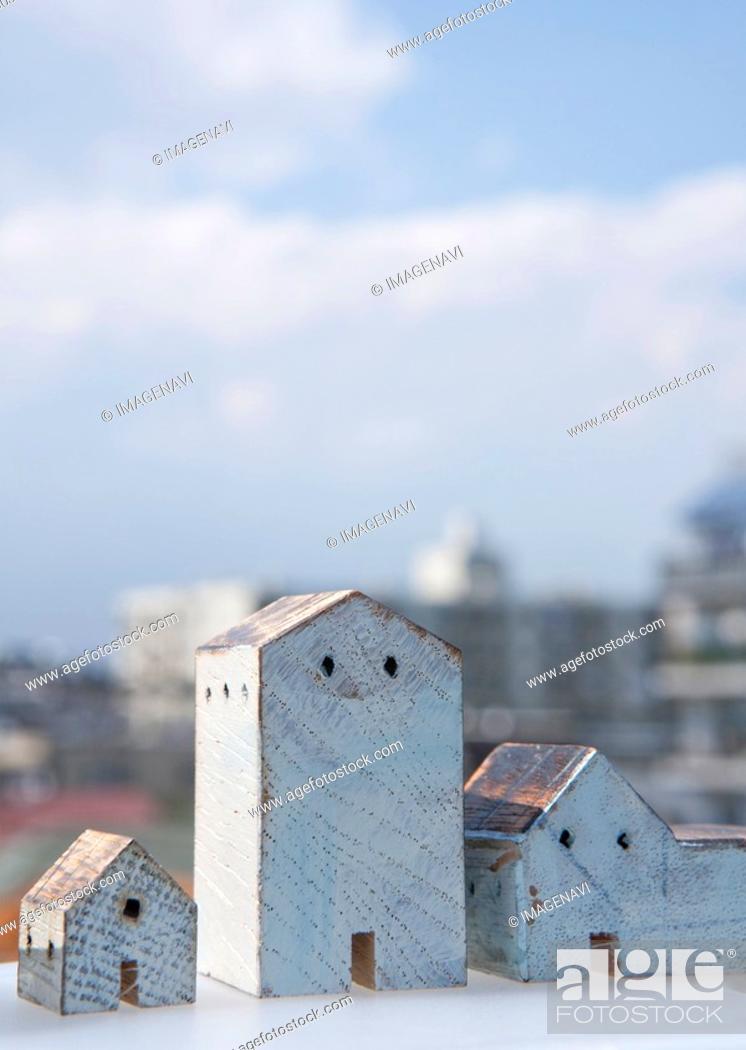 Stock Photo: Miniature houses.