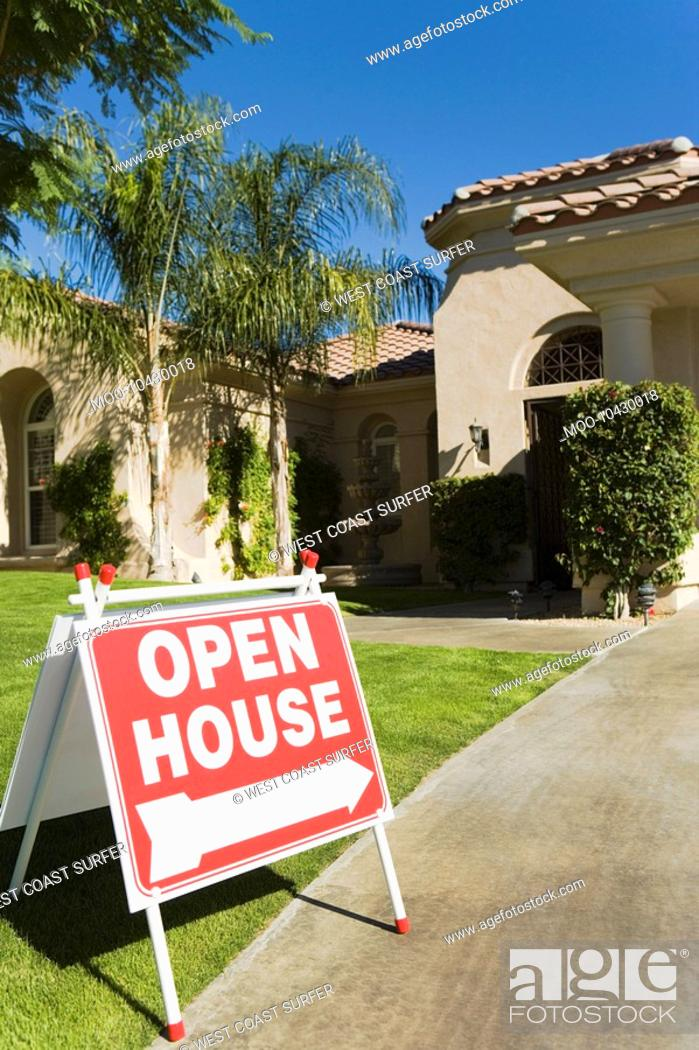 Stock Photo: Open House sign.