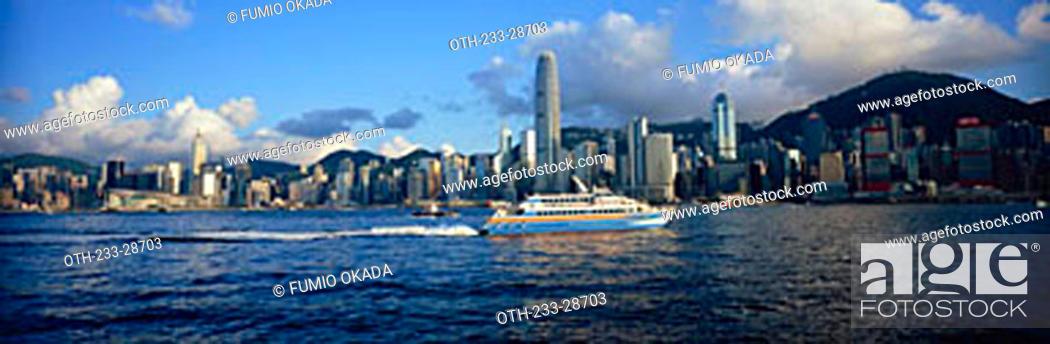 Imagen: Hong Kong skyline from West Kowloon, Hong Kong.