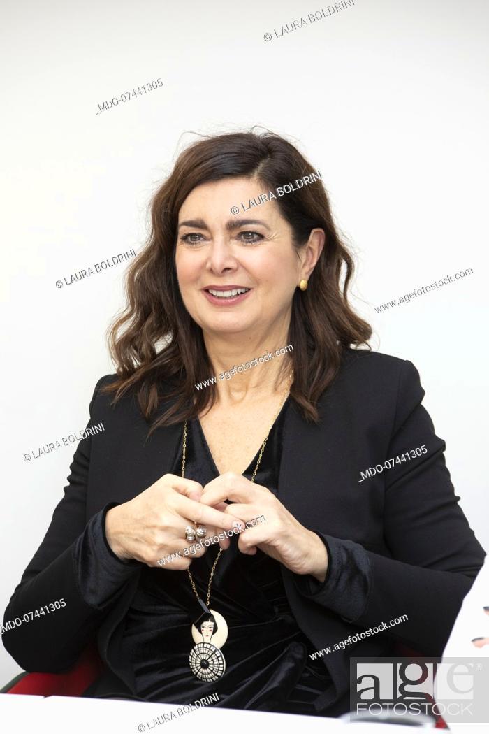 Stock Photo: Italian politics Laura Boldrini during the presentation of the book La grande nemica. Il caso Boldrini in Mondadori Duomo.