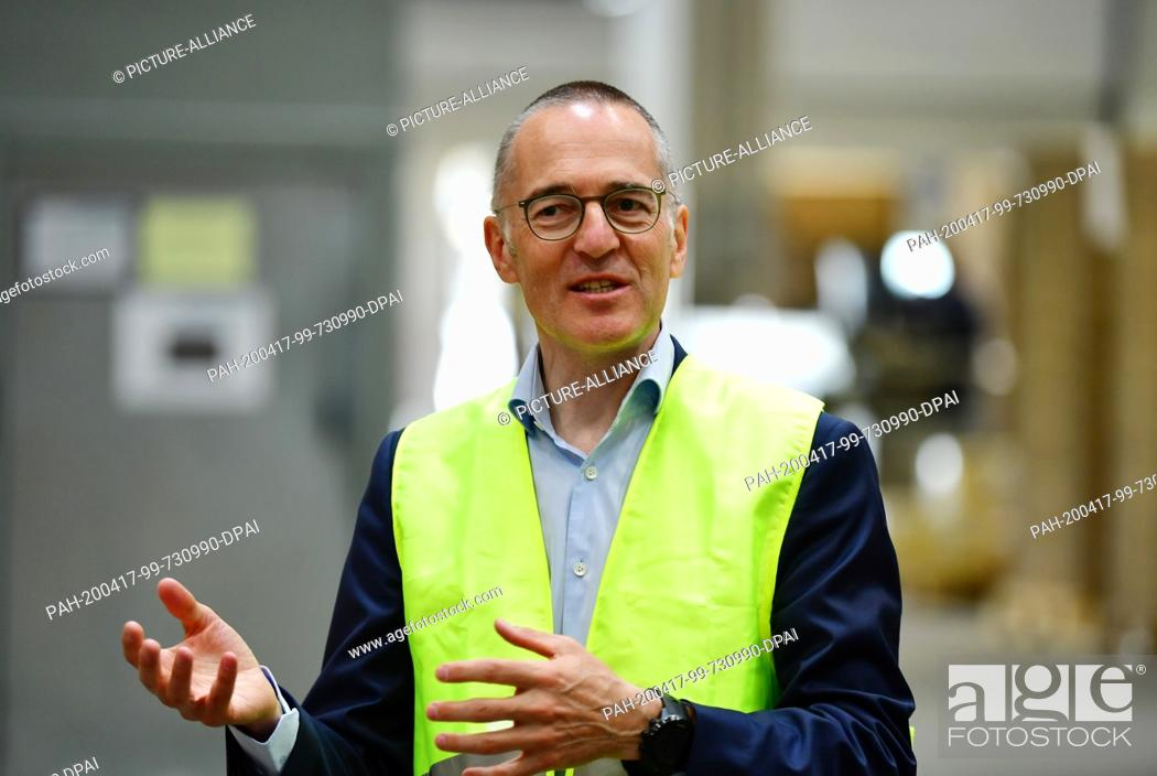 Stock Photo: 16 April 2020, Brandenburg, Großbeeren: Michael Brockhaus, Member of the Managing Board of the logistics service provider Rhenus Warehousing Solutions SE & Co.