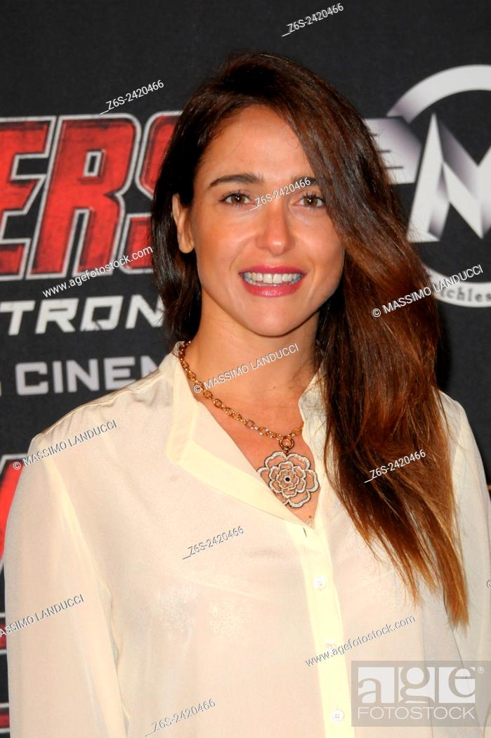 Imagen: Eleonora Sergio ; Sergio; actress ; celebrities; 2015;rome; italy;event; red carpet ; avengers, age of ultron.