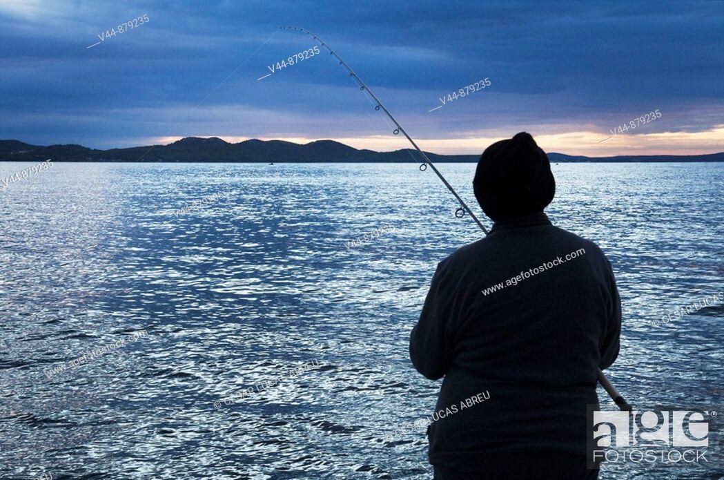 Stock Photo: Fishing in Zadar, Dalmatia, Croatia.