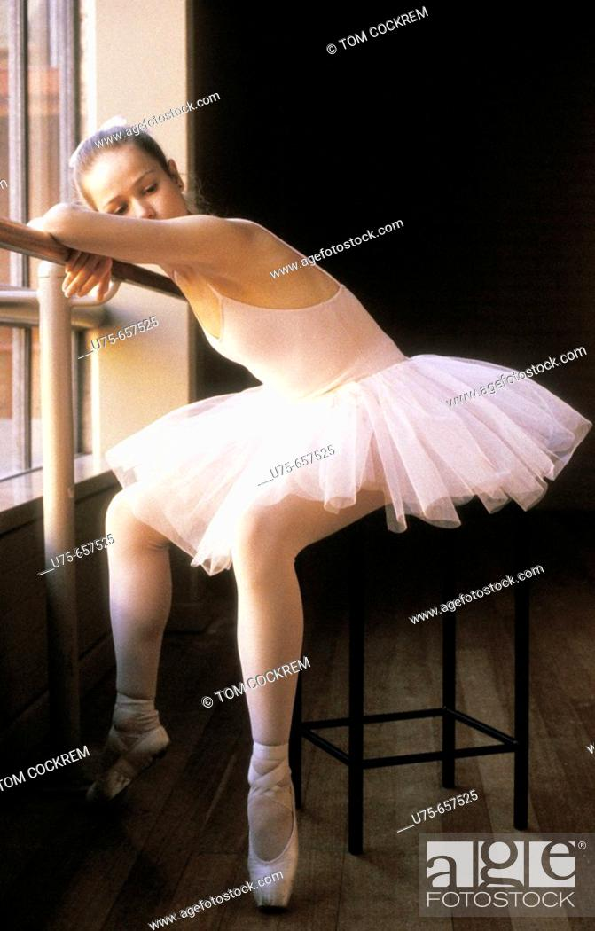 Stock Photo: Ballet dancer in repose.