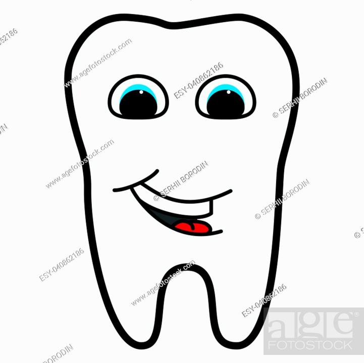 Stock Vector: Tooth is smiling for medicine set.