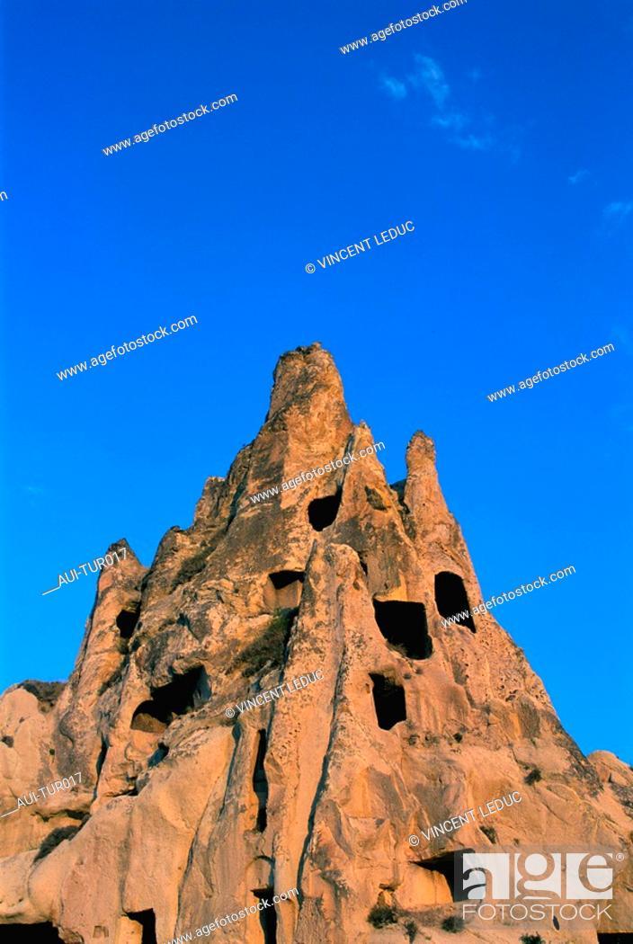 Stock Photo: Turkey - Cappadoce - Goereme - Open Air Museum.