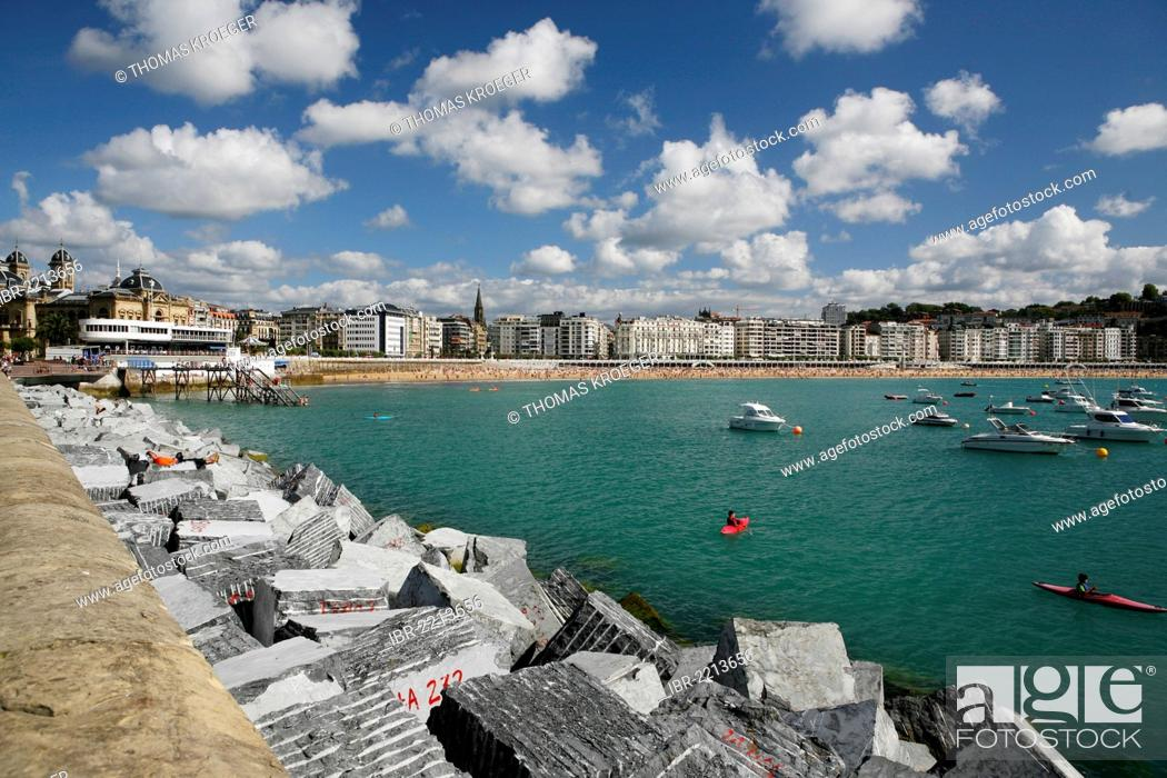 Stock Photo: Cityscape of San Sebastian, Basque: Donostia, Basque Country, northern Spain, Spain, Europe.
