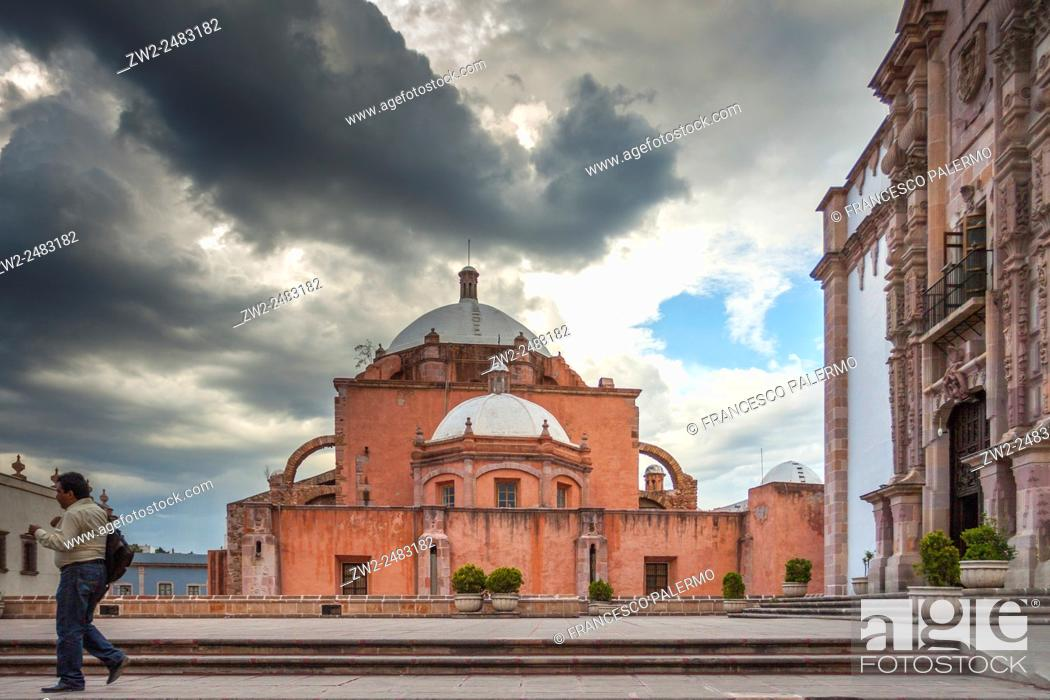 Stock Photo: View of Cathedral of city from back side. Zacatecas, ZAC. Mexico.