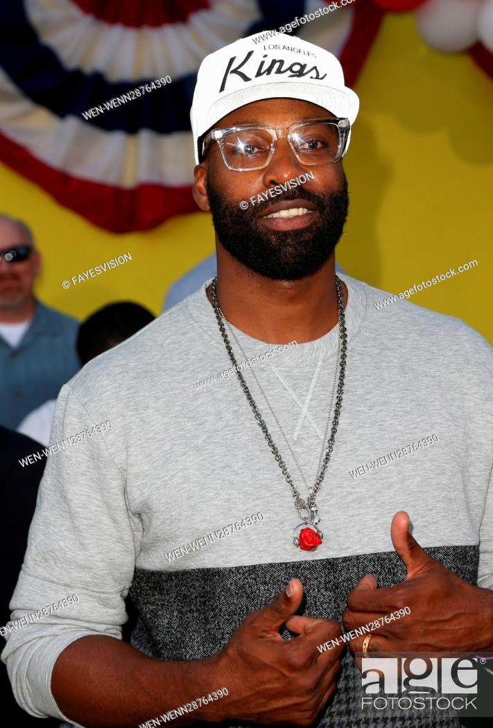 Stock Photo: Premiere of Sony's 'Sausage Party' at Regency Village Theatre - Arrivals Featuring: Baron Davis Where: Westwood, California.