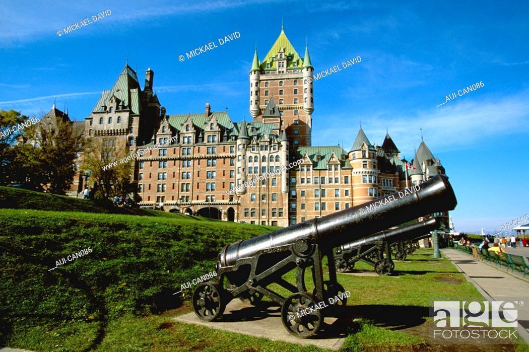 Stock Photo: Canada - Quebec - Town - Frontenac Castle.