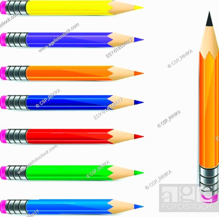 Stock Vector: Set of pencils.