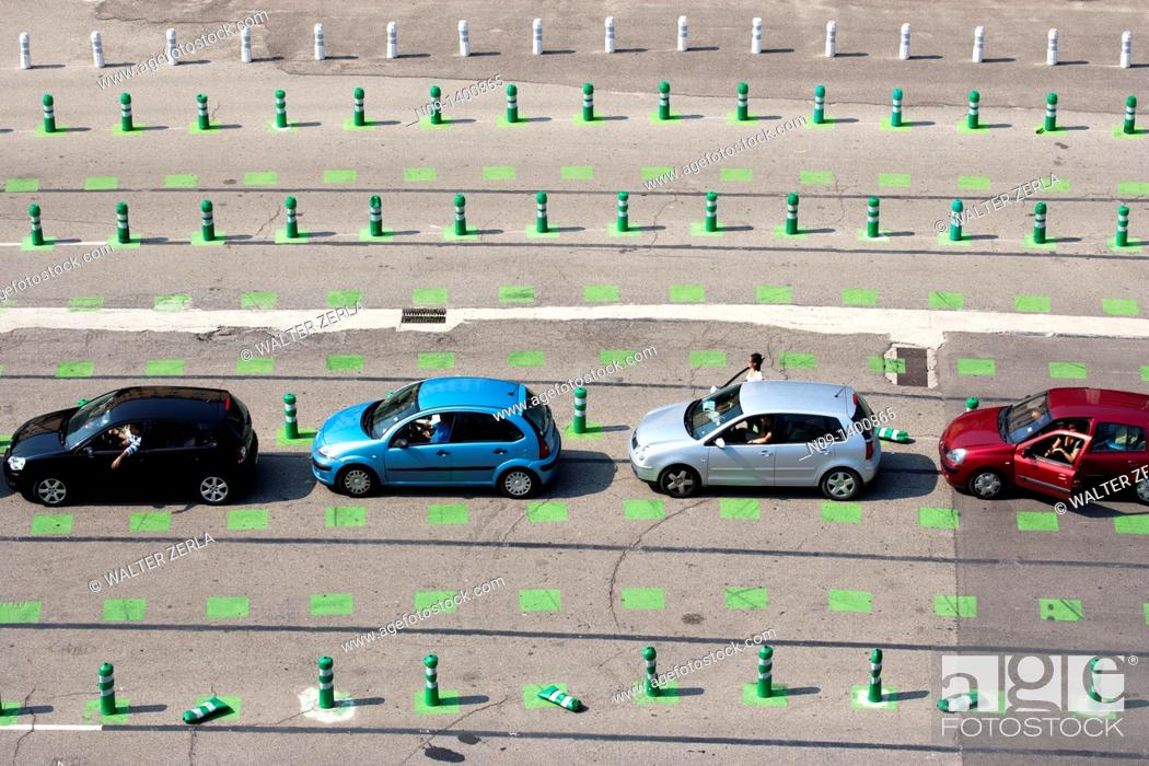 Stock Photo: parking at the port, Bastia, corsica.